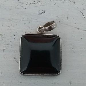 Sterling Silver Black Pendent